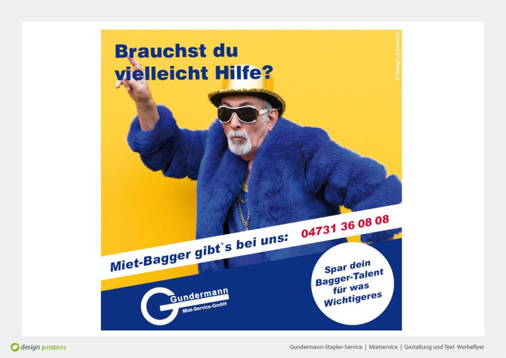 Gundermann-Stapler-Service   Mietservice   Gestaltung und Text Werbeflyer